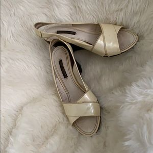 Authentic Louis Vuitton wedge sandals 36